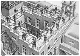Figura 2. Escala de Penrose en una il·lustració de l'artista Escher
