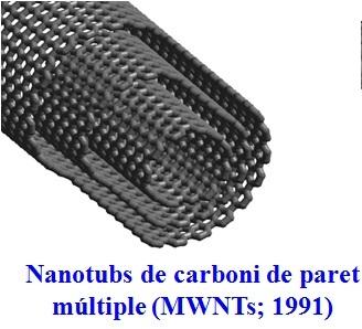 Un nanotub de paret múltiple com els primers que va sintetitzar Iijima