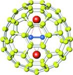 Figura 2. El ful·lere endoèdric de carbur metàl·lic Sc2C2@C84.