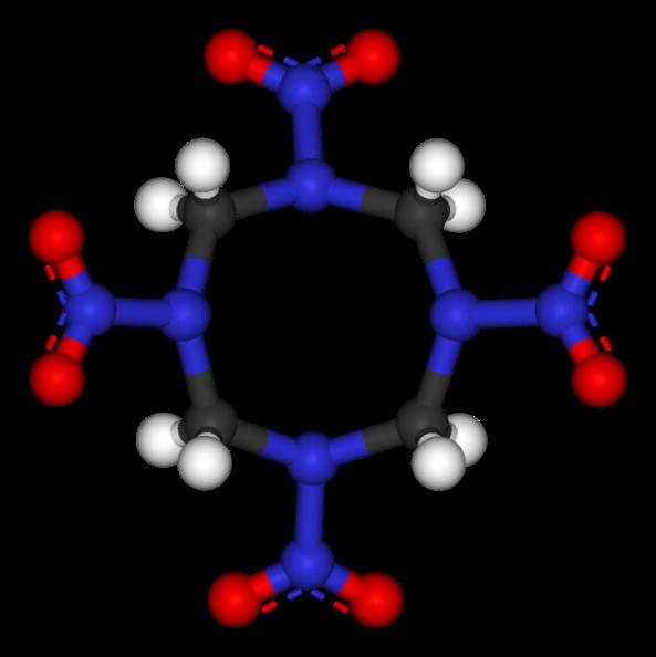 Figura 2. L'estructura molecular del HMX.