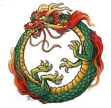 Figura 2. La figura mitològica de l'ouroborus.